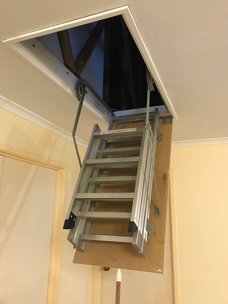 Fold Down Ladders into ceiling space
