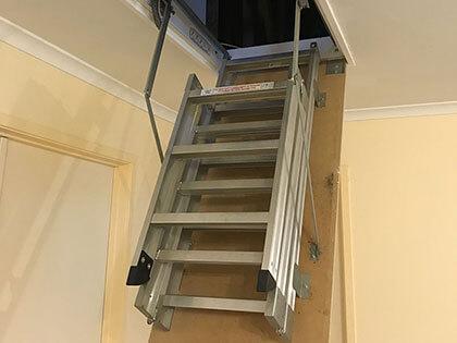 Fold down ladders